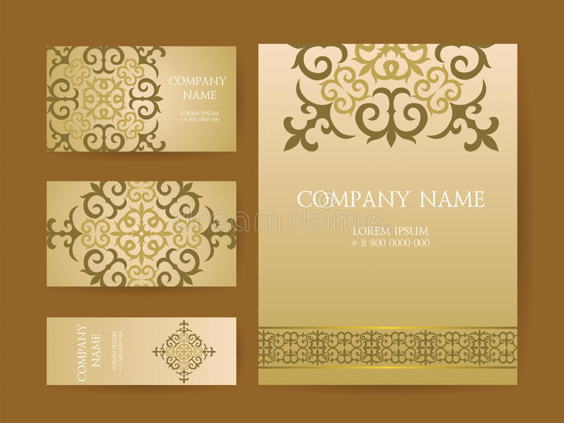 Set Of Business Cards, Invitations, And Cards Templates With Lac ...