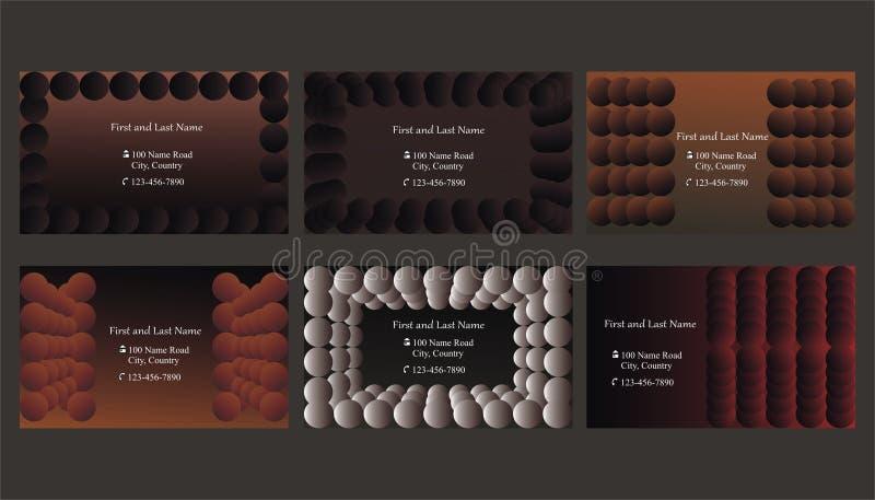 Set of business cards or text frames stock illustration