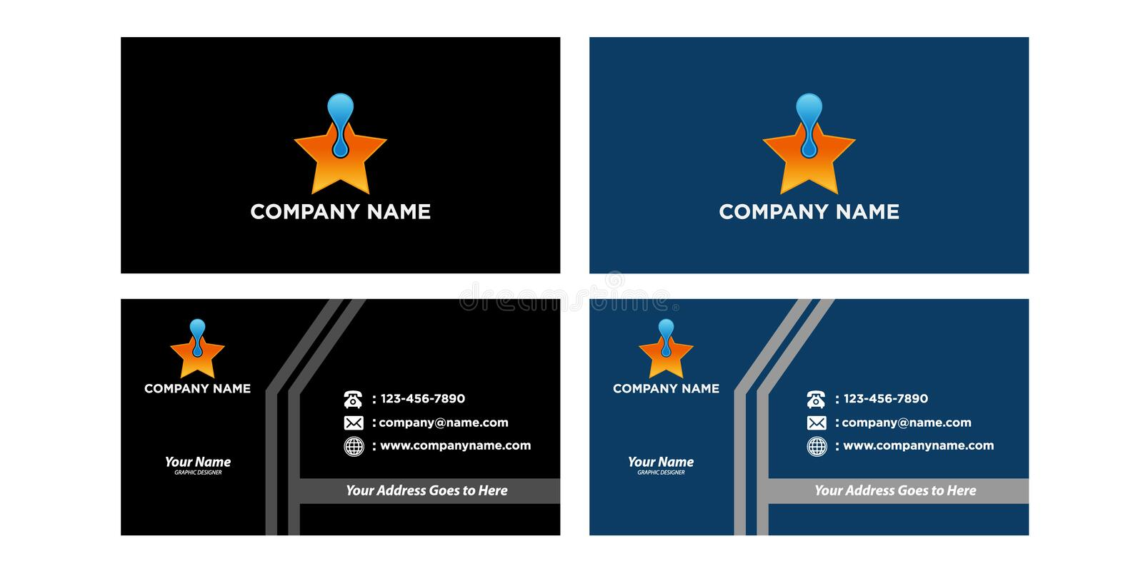 Set of business cards. You can edit the cards by adding your name and company name