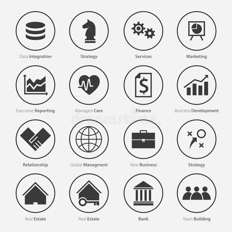 Set of Business Career Icon in Flat Design vector illustration