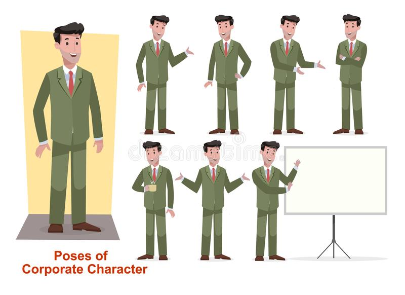 Set of business character for office and corporate stock photos