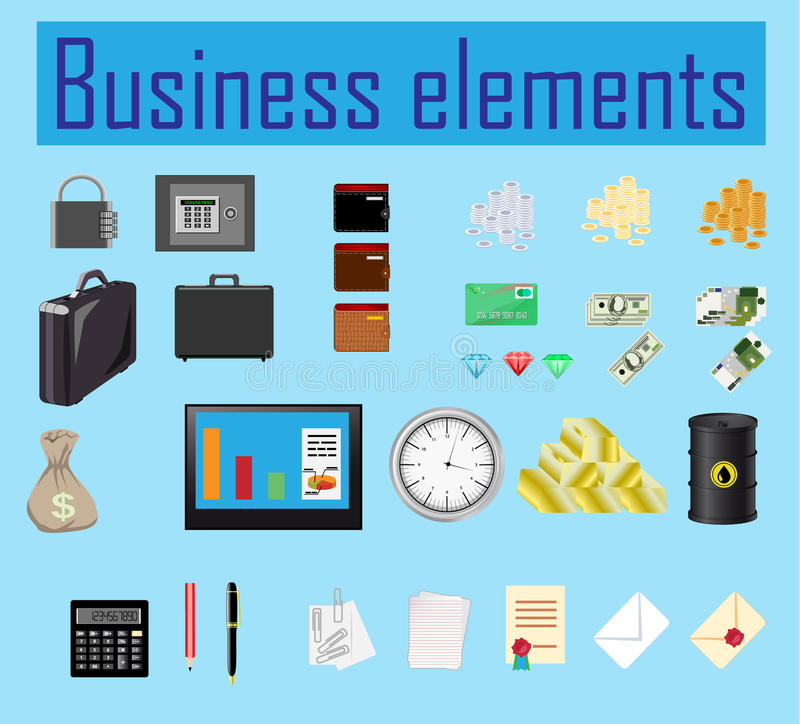 Business elements stock illustration