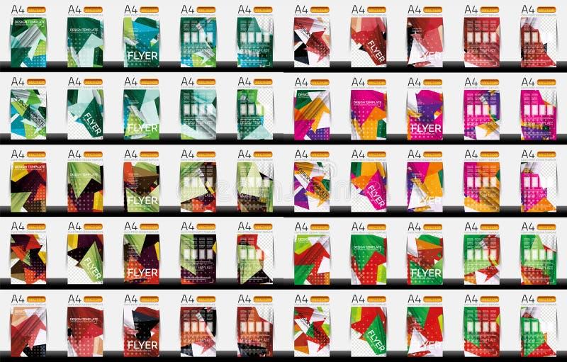 Set of business geometric design flyer templates royalty free illustration