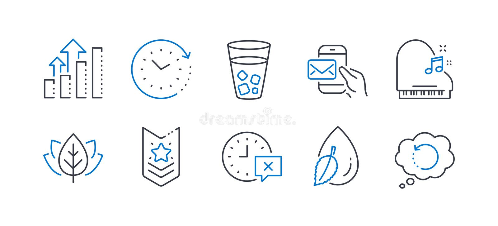 Set of Business icons, such as Messenger mail, Time, Time change 矢量 库存例证