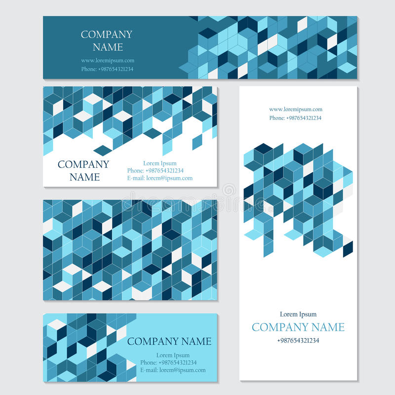 Set Of Business Or Invitation Cards Templates Vector – Business Invitation Template