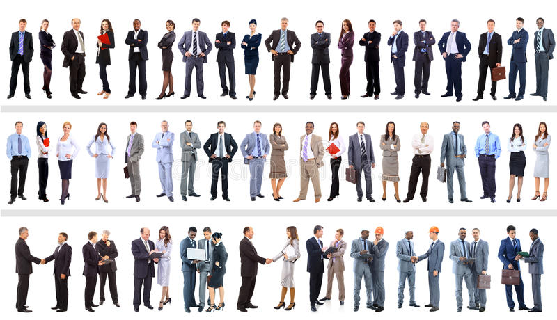 Set of business people stock photography