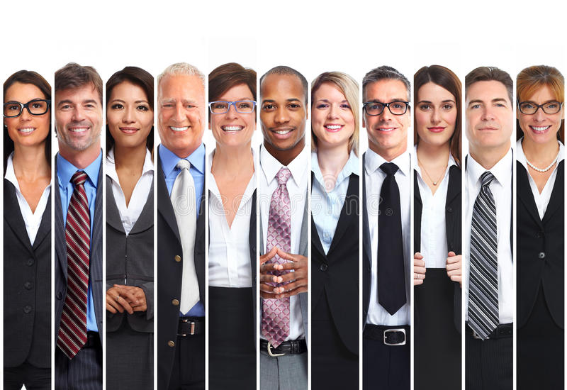Set of business people royalty free stock photos