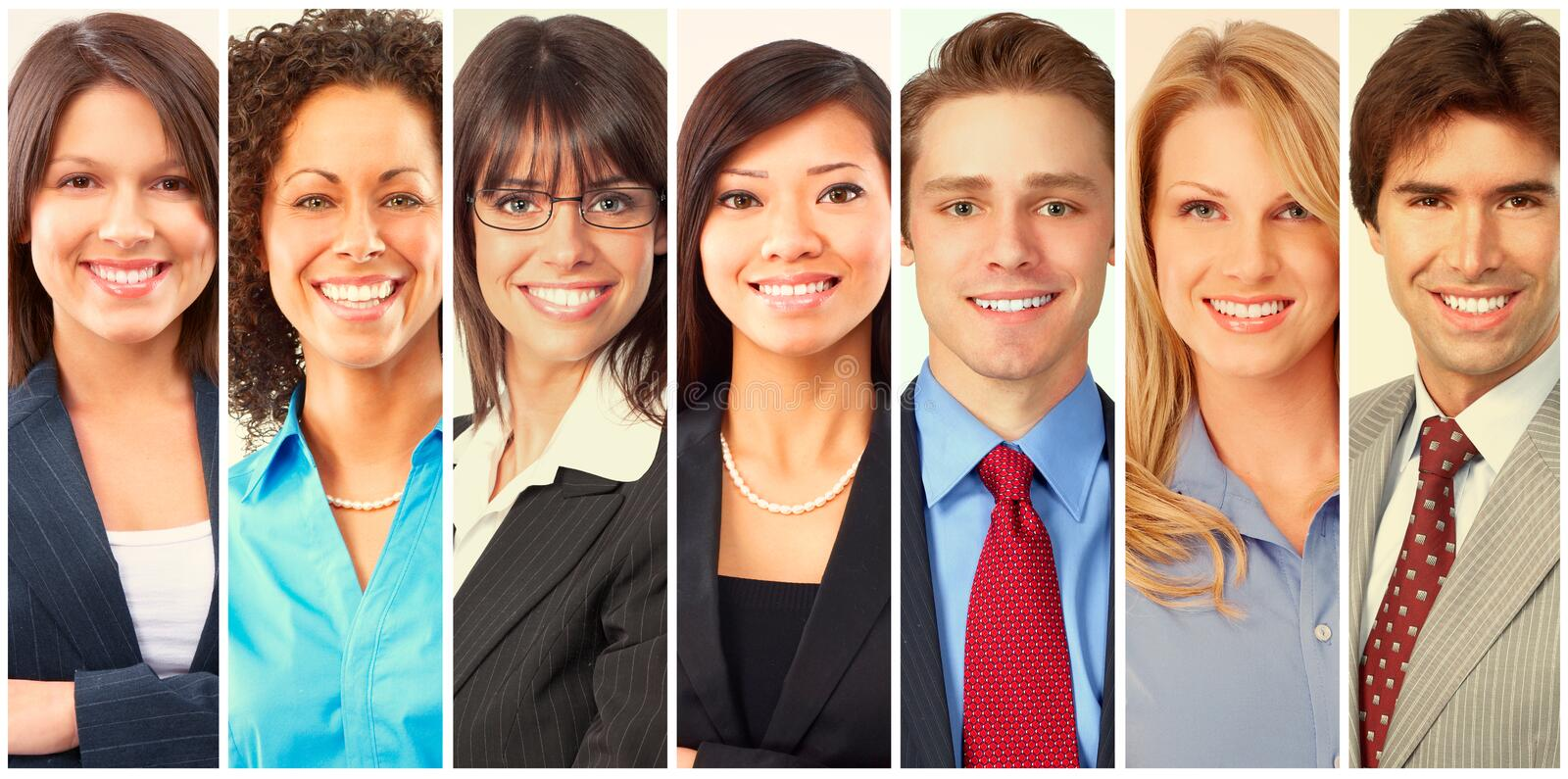 Set of business people royalty free stock image