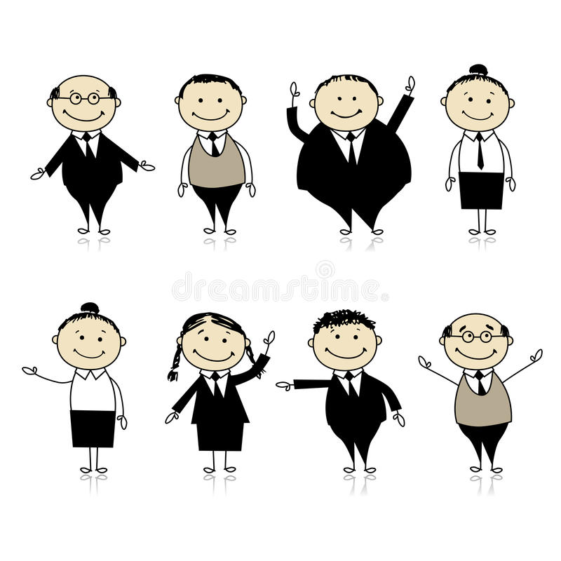 Download Set Of Business Persons For Your Design Royalty Free Stock Photos - Image: 16494258