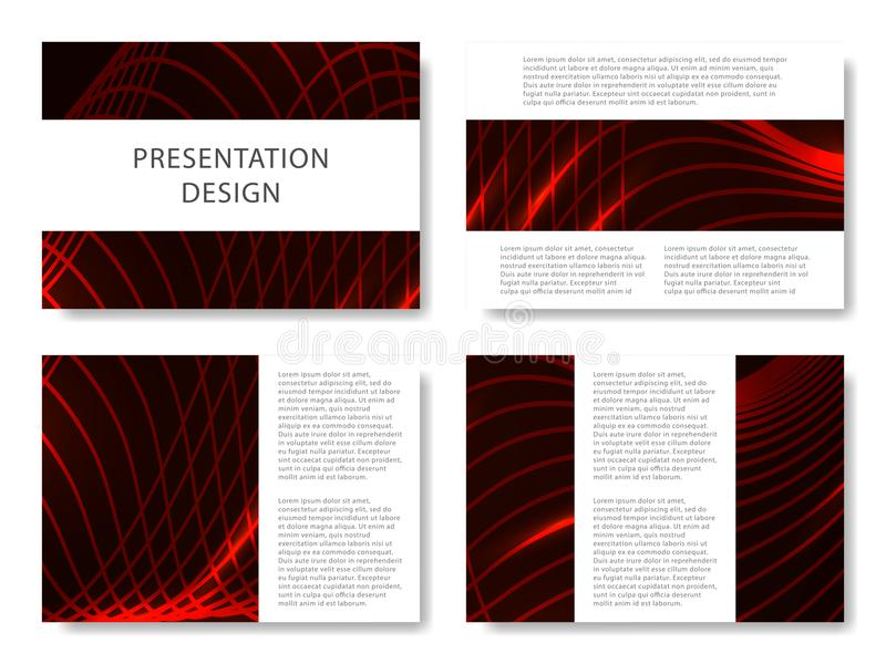 Set of business templates for presentation slides. Colorful design with waves abstract beautiful background. Vector illustration. vector illustration