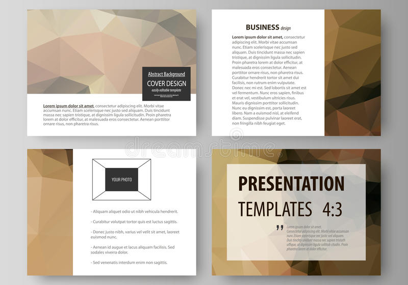 Set of business templates for presentation slides. Easy editable abstract vector layouts in flat design. Beautiful. Background. Geometrical colorful polygonal vector illustration
