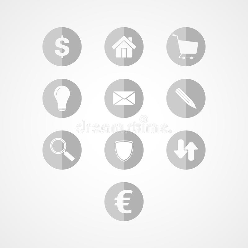 Download Set business web icon stock vector. Illustration of credit - 43571999