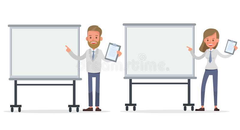 Set of Businessman and Businesswoman character vector design. Presentation in various action with emotions and working. no10. Set of Businessman and vector illustration