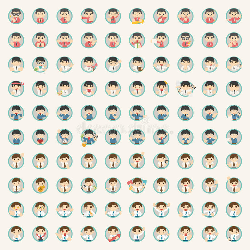 Set of businessman character. Eps10 vector format stock illustration