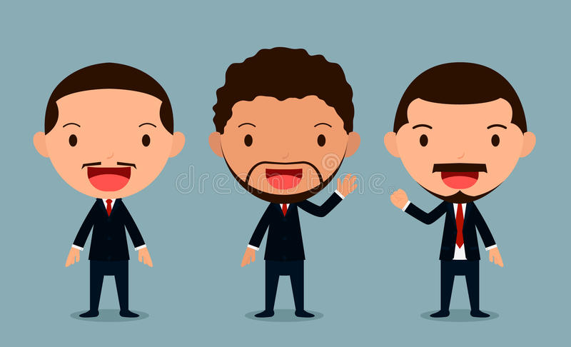 Set of businessman characters poses , office worker, form stock image
