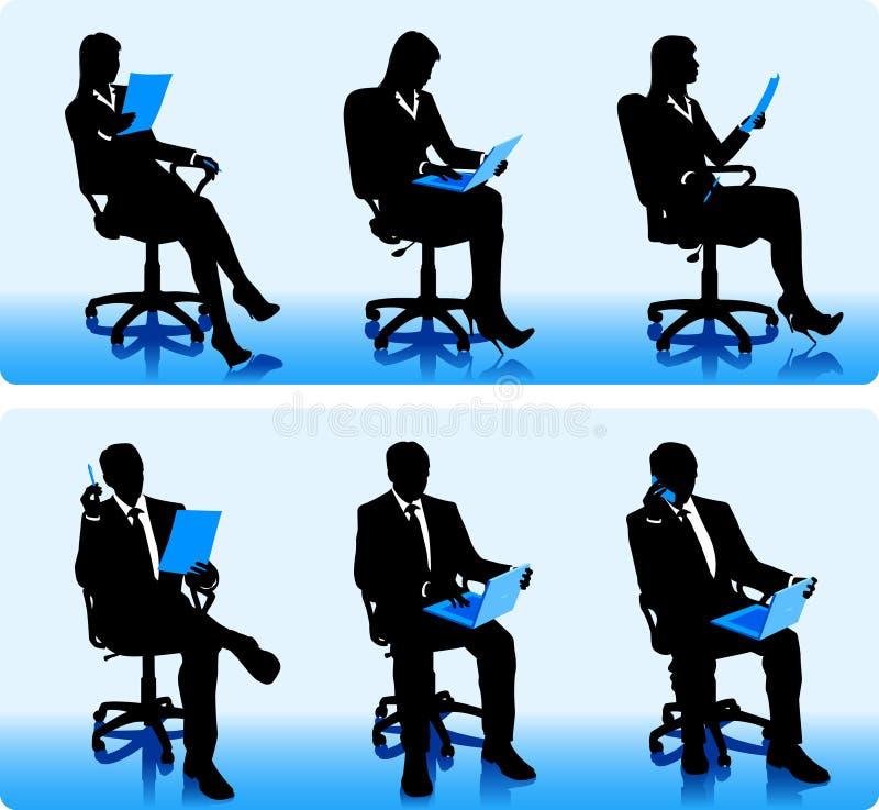 Download Businessmen silhouettes stock vector. Illustration of advisor - 27932702