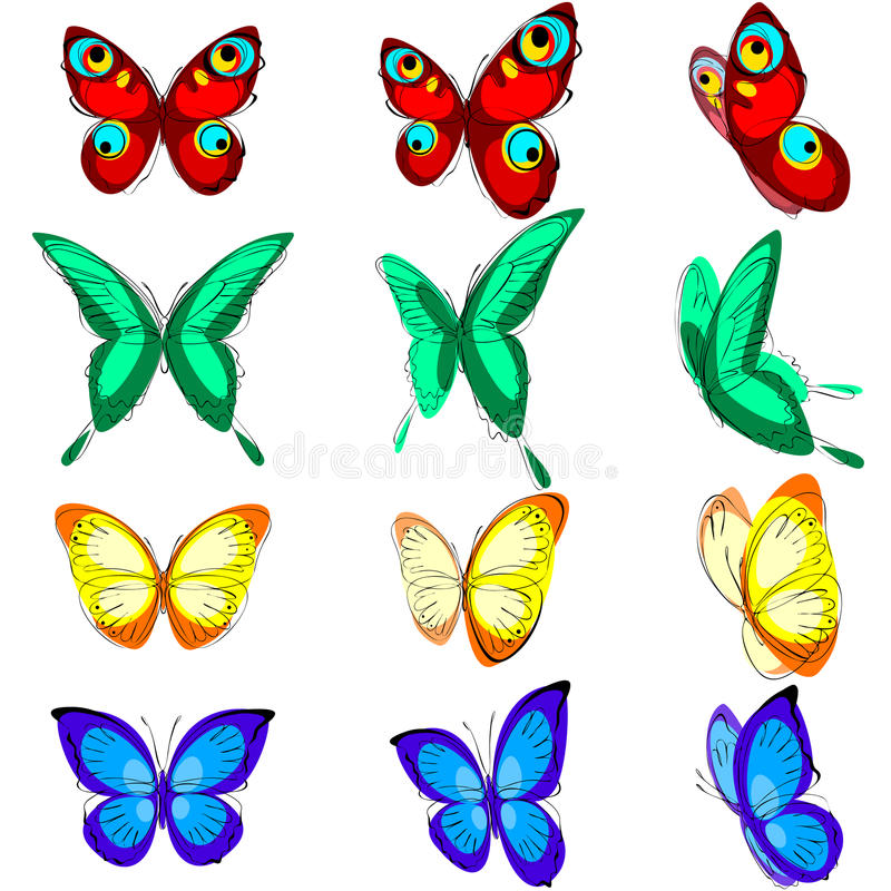 Download Set Of  Butterflies Stock Images - Image: 20616644