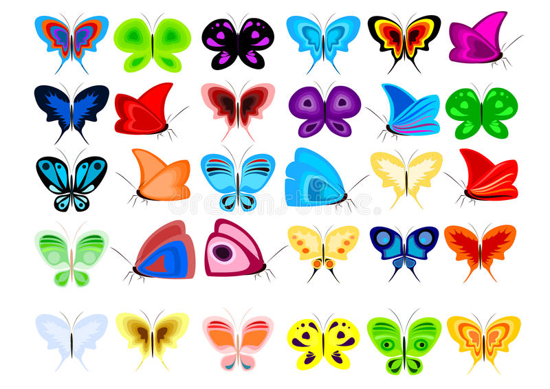 Download Set of butterflies stock vector. Illustration of multicoloured - 23757101