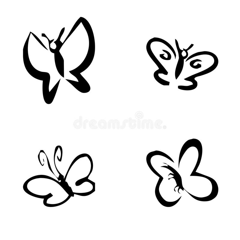 Set of Butterfly Tattoos royalty free stock photos