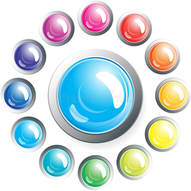 Set of buttons. stock photo