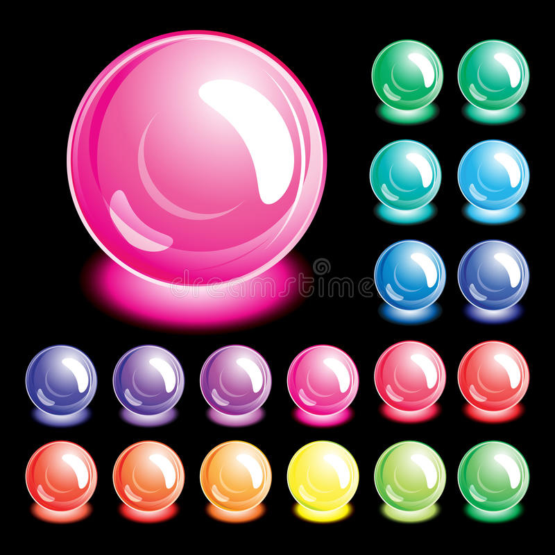 Set of buttons. stock image