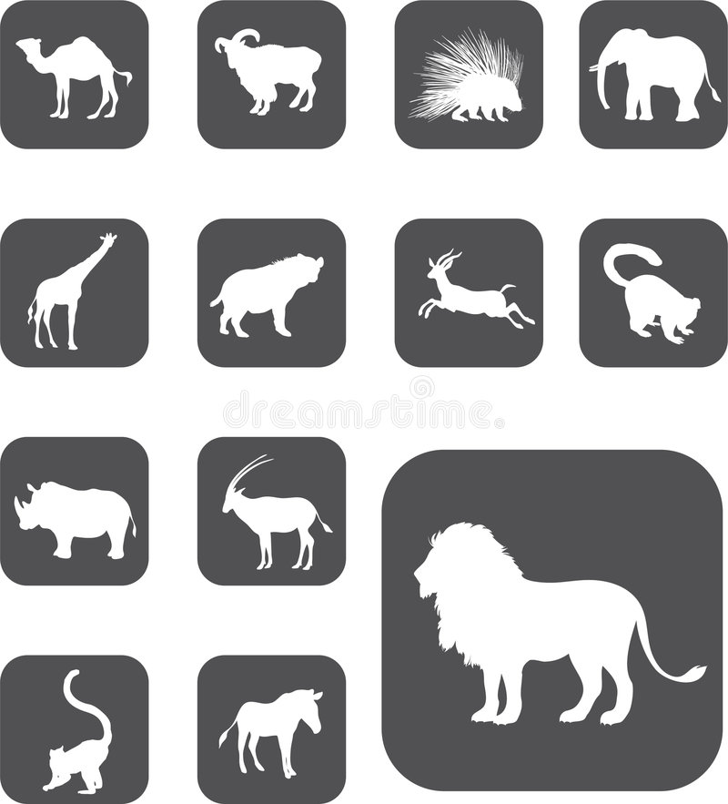 Download Set Buttons - 25_Z. Animals Stock Vector - Image: 6817160