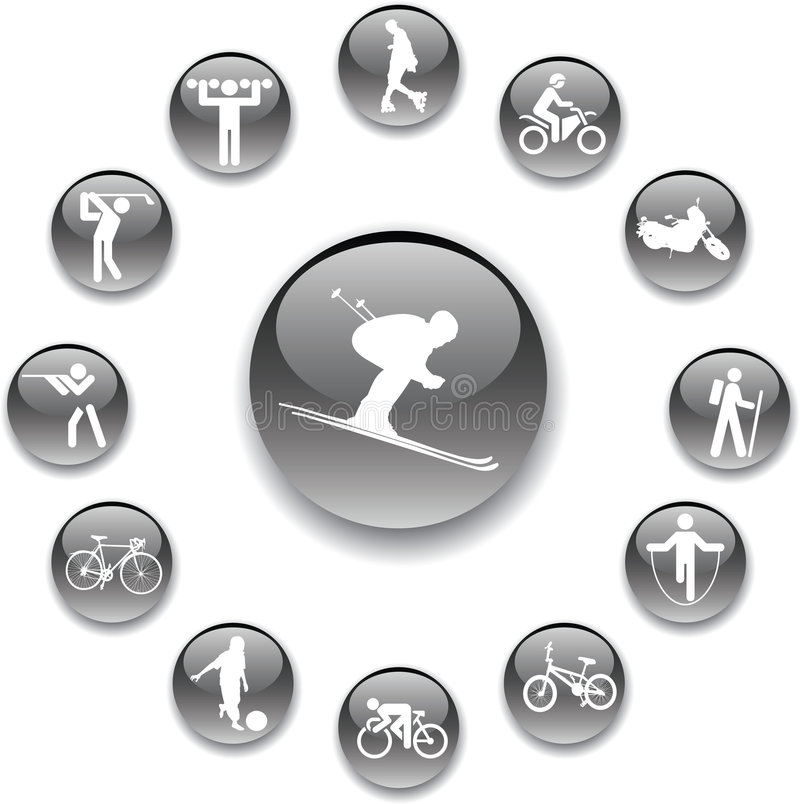 Free Set Buttons - 82_A. Sport Stock Image - 6966651