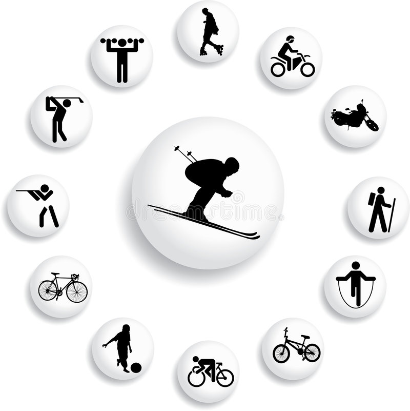 Free Set Buttons - 82_B. Sport Stock Images - 6813424