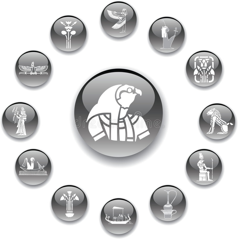 Download Set Buttons - 96_A. Egypt Stock Photo - Image: 8711590