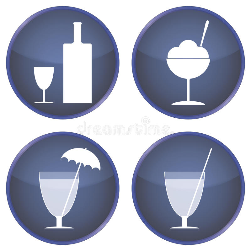 Download Set Of Buttons For Cafes And Bars Stock Illustration - Image: 33886196