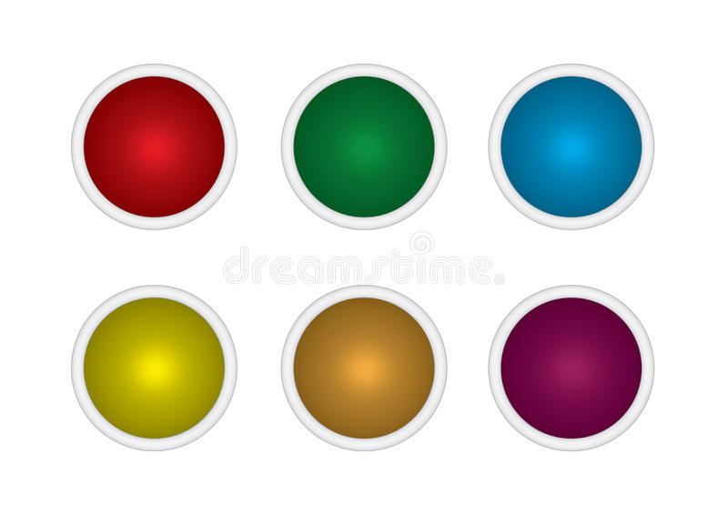 Set Buttons Multicolored Royalty Free Stock Image