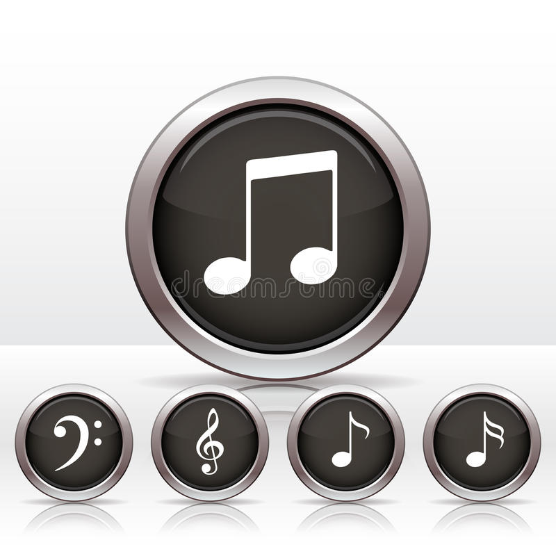 Set buttons with music note icon.