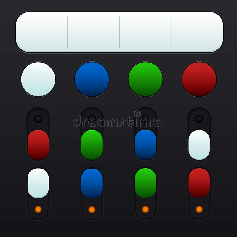 Download Set Of Buttons And Switches In Different Colors Stock Image - Image: 36927677
