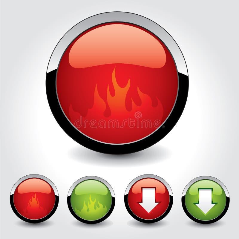 Set of buttons for web design. stock illustration