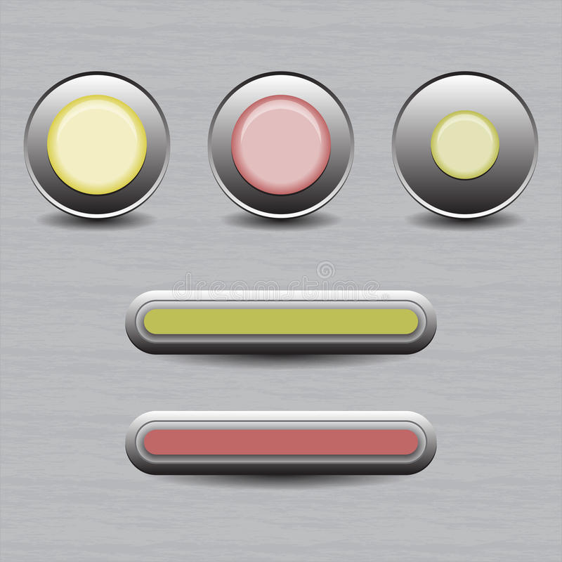 Set of buttons for web design stock photo