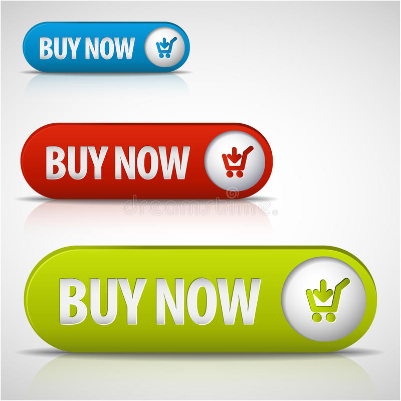 Set of buy now buttons vector illustration