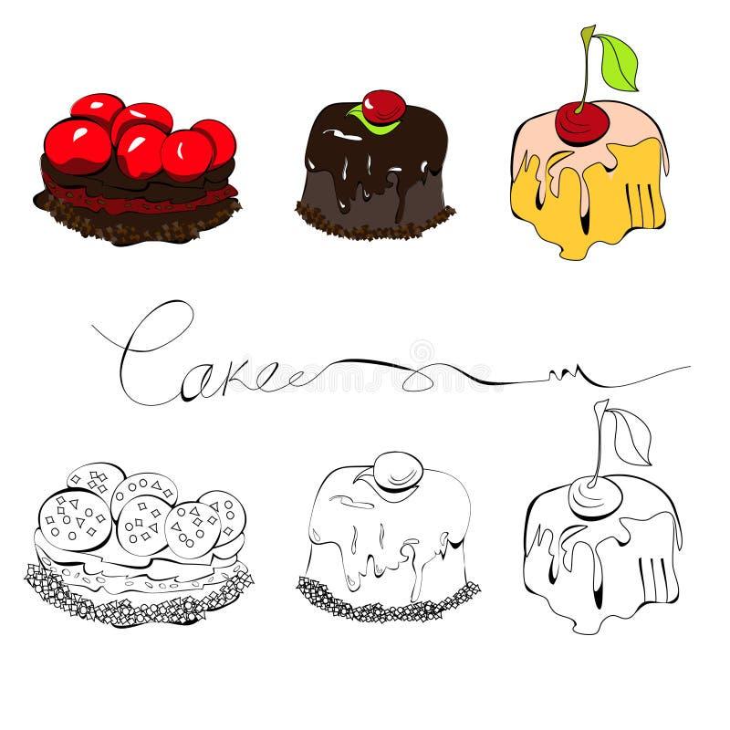 Set Of Cakes Royalty Free Stock Photo