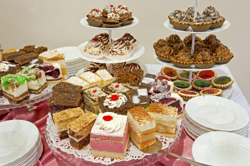 The set of cakes. On a table royalty free stock image