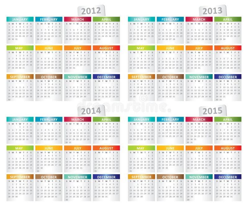 Set of calendar