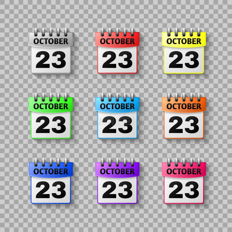 Set calendar icon vector Isolated on transparent background. Symbol Calendar for your website design vector illustration