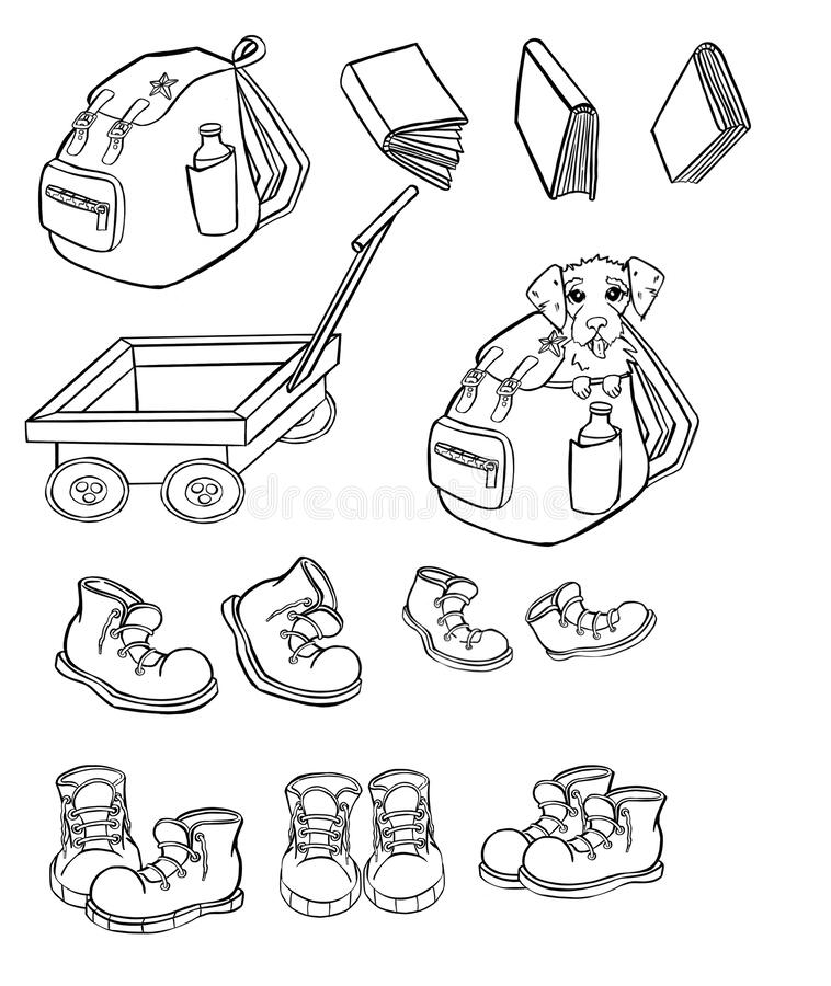 Set Of Camping And Hiking Equipment Stock Vector Illustration Of Hike Camera 184600560