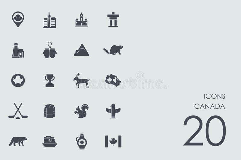 Set of Canada icons. Canada vector set of modern simple icons vector illustration