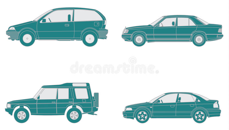 Download Set Of Car Icons Royalty Free Stock Photos - Image: 12376908