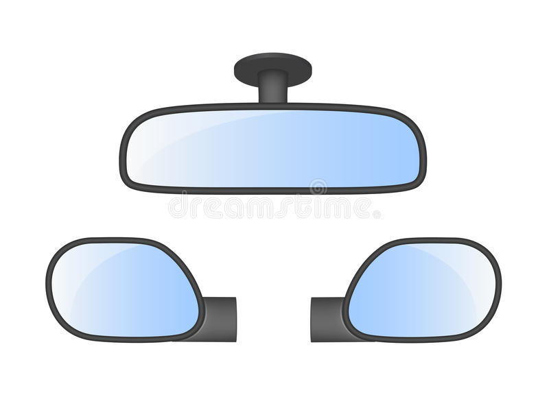 how to set up rear view mirrors