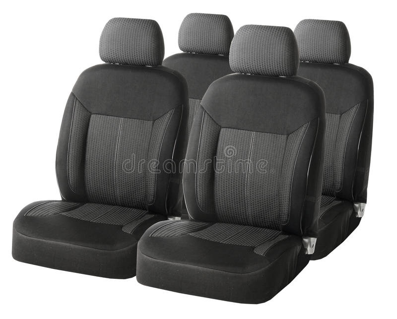 Set of a car seats isolated on white royalty free stock photography