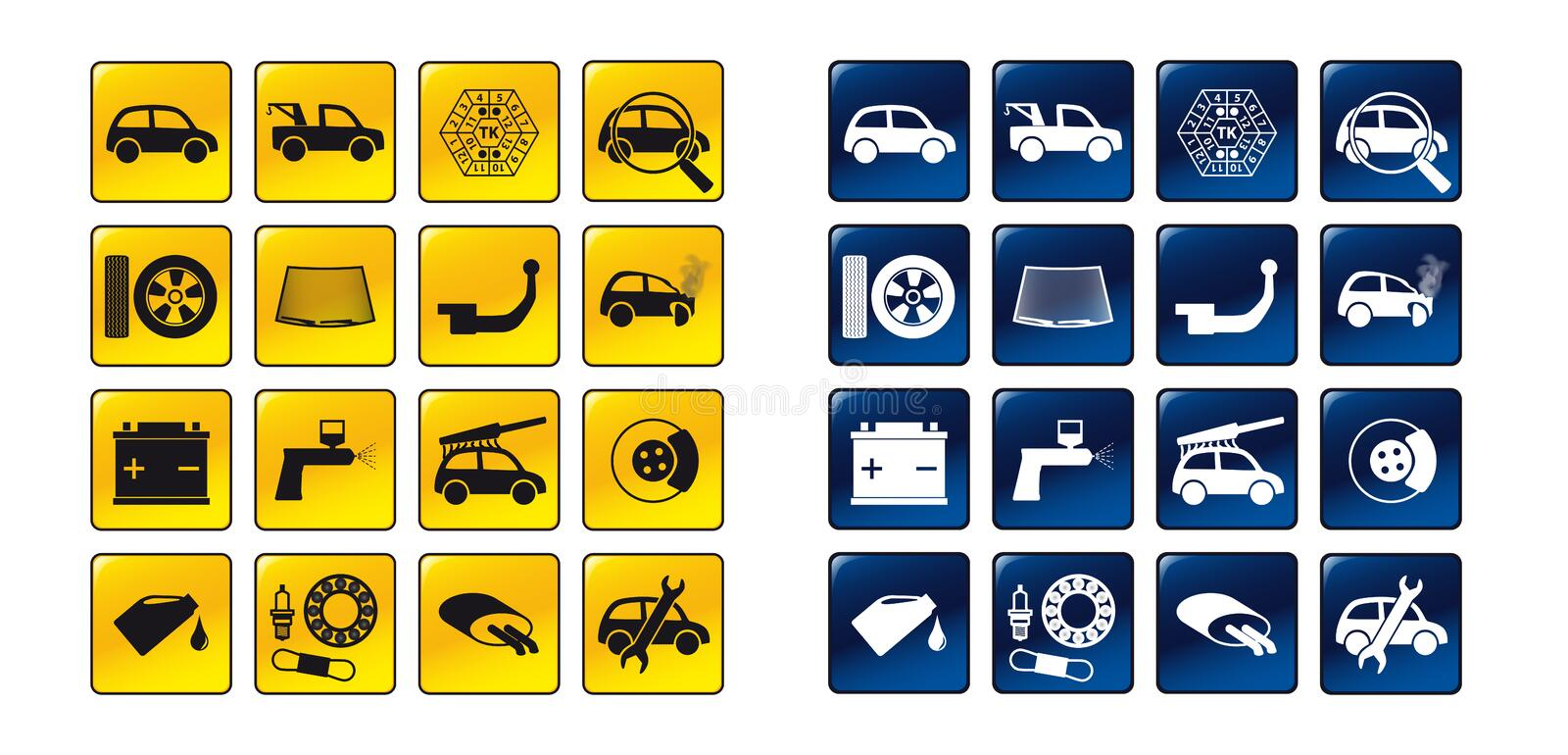 Download Set of car service icons stock vector. Illustration of repair - 17502791