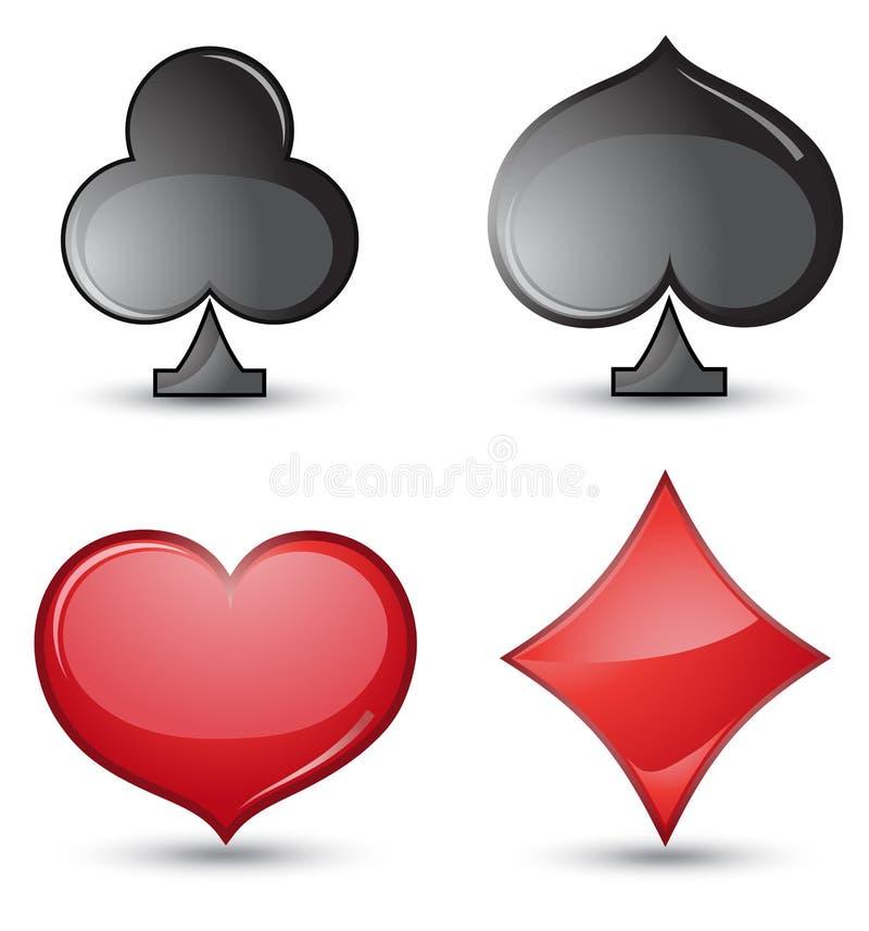 Download Set of card suit stock vector. Image of gambling, joker - 23529183