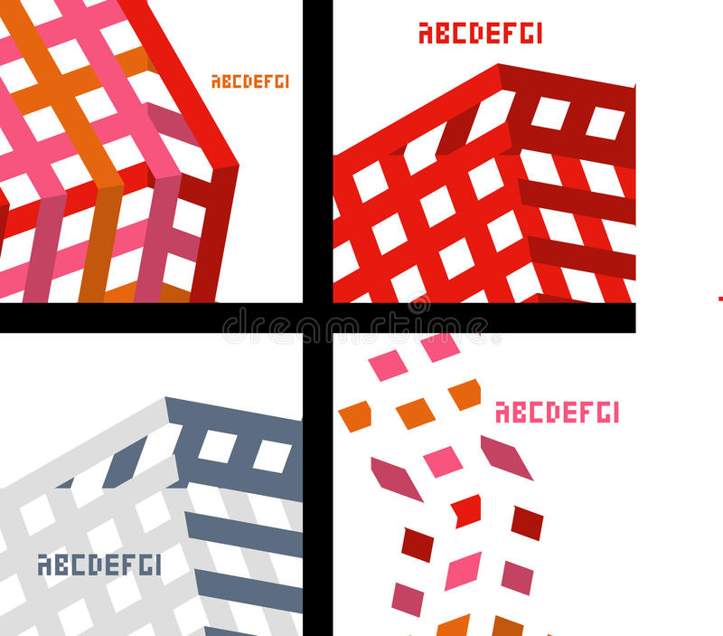 Set of card template stock illustration