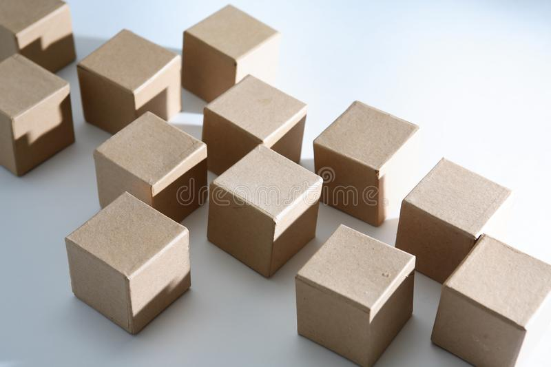 Set Of Cubes royalty free stock photo