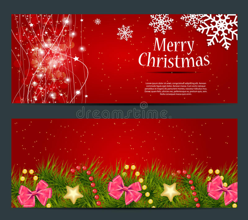Download Set Of Cards With Christmas BALLS, Stars And Stock Vector - Illustration: 33874427